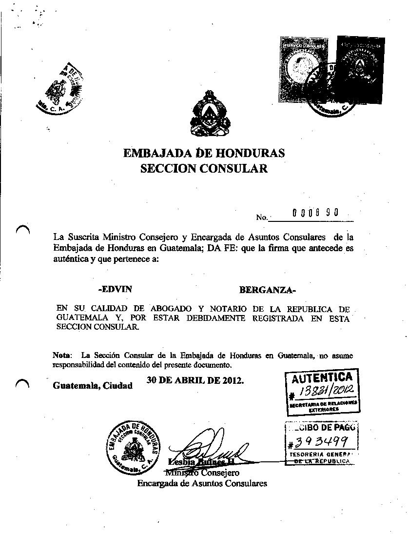 Aut Ntica De Certificado De Registro De La Sociedad