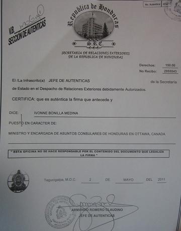 Documento Apostillado